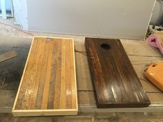 Cornhole board from scrap hardwood flooring Reclaimed Hardwood Flooring, Modern Wood Floors, Laminate Flooring, Flooring Ideas, Maple Flooring, Hardwood Floor Colors, Light Hardwood Floors, Diy Wood Projects, Wood Crafts