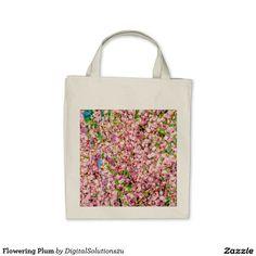Flowering Plum Tote Bag