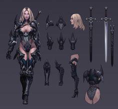 게임원화 모범적인 사례, 포트폴리오는 이렇게 : 네이버 블로그 Fantasy Girl, Fantasy Female Warrior, Female Armor, Female Knight, Fantasy Armor, Fantasy Women, Female Character Concept, Fantasy Character Design, Character Modeling