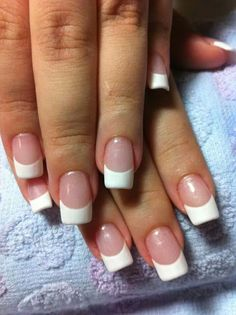 Classic french nails