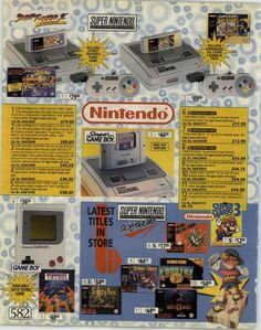 from Argos Superstore 1995 Spring/Summer Nes Collection, Video Game Collection, Classic Video Games, Retro Video Games, Nes Games, Arcade Games, Super Nintendo, Pac Man, Gaming Magazines