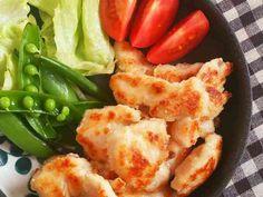 簡単節約☆鶏胸肉の揚げない塩唐揚げ。の画像