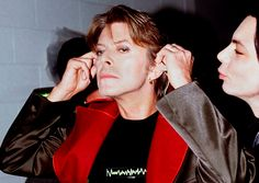 At the Brit Awards, February 1999. He released his twenty-first studio album 'Hours...' a few months later. Photo: PA