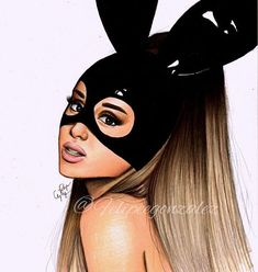 @arianagrande pls tag her and follow my personal @felipegoca if u want // guys Im so grateful for the last week I mean queen @meghan_trainor reposted my drawing, I become in a uncle for very first time! I won a giveaway by @juan_dacorte of a box of prismacolors and at last Im so close to 100k thanks for all your support guys means the world to me