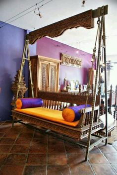 Used bold colours along with indian furniture