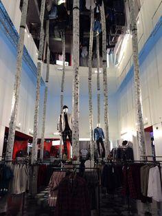 Topman Atrium | London Fashion Merchandising, Retail Merchandising, Window Displays, Visual Communication, Atrium, Window Shopping, Display Ideas, Windows, Autumn