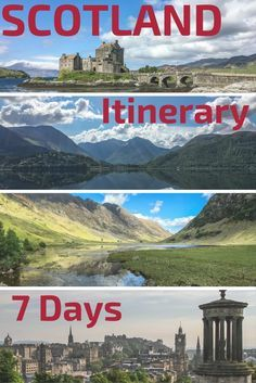 Plan your Scotland Trip with those 5 detailed Scotland itinerary suggestions - including 2 options for 7 days itineraries - Stop by Stops with photos - including, Edinburgh, Glencoe, Trossachs,... Make the most of your Scotland Travel with some of the best Landscapes in Scotland