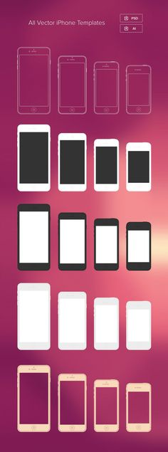 Minimal iPhone Templates