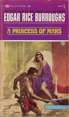 A Princess of Mars (1963)  By Edgar Rice Burroughs Ballantine Books, 1963  First printing.  Cover by Bob Abbett.
