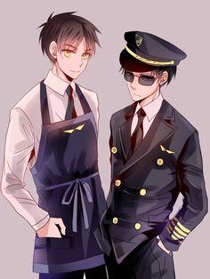 Bambino宝酱/Aviation Paro Eren & Levi | Shingeki no Kyojin #anime