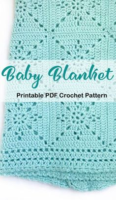 Crochet Baby Blanket Free Pattern, Baby Blankets To Crochet, Fillet Crochet, Crochet Afgans, Crochet Crafts, Crochet Stitches, Lana, Baby Afghans, Sewing