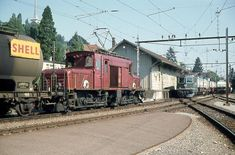 SBB De 6/6, Re 4/4 III, Beinwil am See, Knie, 1975