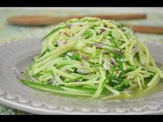 Fresh Cucumber Salad with Lime Dressing Recipe - YouTube