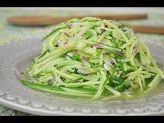 Fresh Cucumber Salad with Lime Dressing #recipe #recipes #vegan #vegetarian #videorecipe
