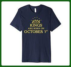 Mens Kings Are Born On October 7th Birthday T-shirt Small Navy - Birthday shirts (*Amazon Partner-Link)