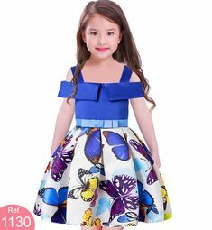 Girls Off-the-shoulder Butterfly Wedding Princess Birthday Party Dress Age African Dresses For Kids, Girls Party Dress, Toddler Girl Dresses, African Fashion Dresses, Girls Dresses, Flower Girl Dresses, Pageant Dresses, Party Dresses, Princess Dress Kids