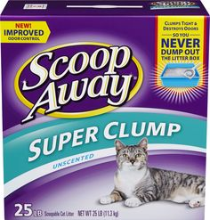 25# Unscented clumping cat litter, tough odor control. Free of dyes, and…