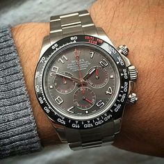 New collection from Titan Black. .DLC Bezel White Gold Daytona with Slate Dial.