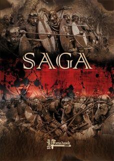 SAGA, Best medievil skirmish game out.  1. SAGA Rulebook (inc 4 Battleboards) 74 pages, full colour, soft back. Comes with 4 card Battleboards - Anglo-Danes, Normans, Viking & Welsh.