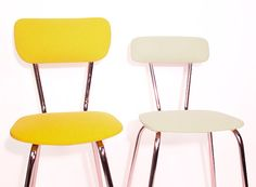 yellow chair - steel base