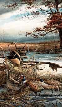 Rusty Refuge II- Pheasants by Terry Redlin