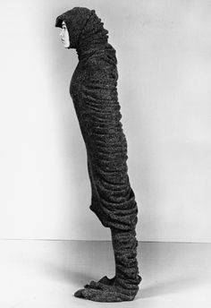 """""""Onda"""", 2000, a series of woolen knitted and felted wearable tubes by Maria Blaisse"""