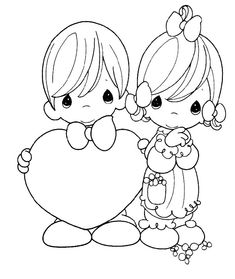 Precious Moments Coloring Pages Free - AZ Coloring Pages
