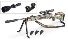 Hatsan Model 125 Camo Sniper .25 Caliber Air Rifle Combo w/Upgraded Hawke Scope, Lockdown Mount, Bipod, and Sling!  750fps .... $350 Hunting Rifles, Air Rifle Hunting, Paintball, Guns And Ammo, Revolver, Cool Guns, Rifle Scope, Model, Firearms