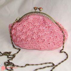bolso de fiesta ganchillo  pink bag