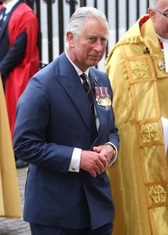 Noblesse et Royautés: 70th Anniversary of Victory in Europe, Service of Thanksgiving, Westminster Abbey, May 10, 2015-Prince of Wales
