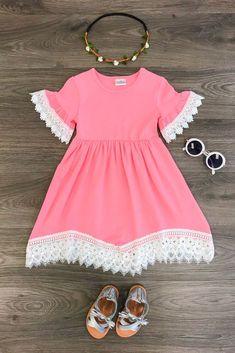 The Amanda Lace Dress - PINK