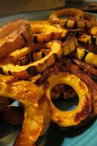 Delicata Squash Ring Oven Fries @The Liberated Kitchen
