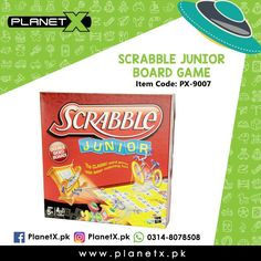 Product: Scrabble Junior Board Game Item Code: PX-9007 Price: Rs 450  Order Now: http://ift.tt/2f2oTqH  Whatsapp: 03148078508  Description: - Scrabble Junior is letter-matching fun for your little one - Game grows with your players - 2-sided game board has an advanced level on the opposite side - Players create their own words in the advanced level - 4 adorable tokens - 2-sided gameboard has an advanced level on the opposite side - Dimensions: 1.9 x 13.1 x 10.5 inches - Suitable for children…