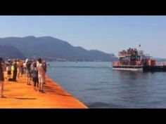 The Floating Piers' by Christo-Ponte galleggiante-Lago d'Iseo-Brescia-Italy