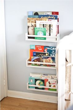 i like the idea of something like this in the kids' rooms...  the kids have tons of books and they like to read, so...