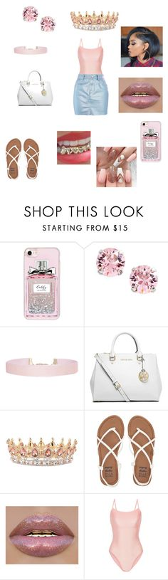 """""""Im taking over the thrown😌👑"""" by kiya2swaavy ❤ liked on Polyvore featuring Casetify, L. Erickson, Humble Chic, MICHAEL Michael Kors, Billabong, Ballet Beautiful and Topshop"""
