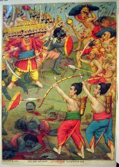 Rama fights Ravana