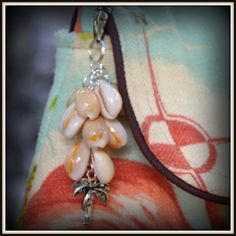 Purse Charm  Palm Tree   Shell Bag Bling   Made in by SasakiBags, $15.00