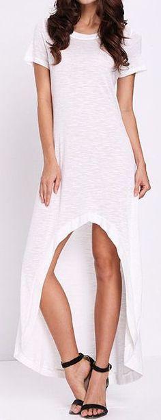 Hi Lo T-Shirt Dress ❤︎ #comfy