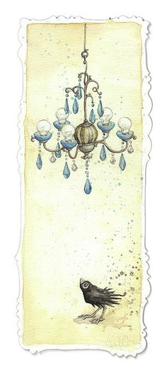 Blue Chandelier by Leontine Greenberg
