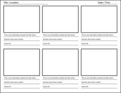 8 best Storyboards images on Pinterest | Storyboard template ...