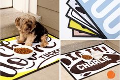 Your pet is part of the family too right? Give your cherished pet his or her own place to hang out! Never have a messy eating area again! Perfect for the back door, or in your mud room. Let your dog know where meal time is!