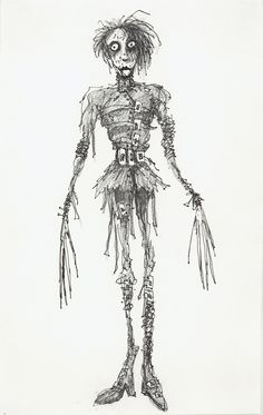 Tim Burton's drawing of Edward Scissorhands!