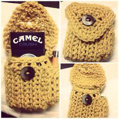 Crocheted cogarette/ lighter cozy