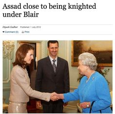 Next time you see the criticism of Corbyn for meeting Assad, it's worth remembering this...