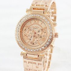 2015 Relogio Feminino Fashion Women Rhinestone Watches Rose Gold Sliver Ladies Dress Quartz Watch Montre Clock Hours Reloj Mujer