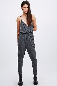 Silence + Noise Marled Jumpsuit in Grey - Urban Outfitters