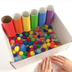 fun learning activities for preschoolers Preschool Learning Activities, Baby Learning, Infant Activities, Preschool Activities, Therapy Activities, Preschool Classroom, Recycled Crafts Kids, Crafts For Kids, Toddler Fun