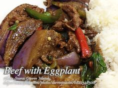 Eggplant is good for the body because obviously it is a vegetable. But there are people who hates vegetable and specially kids that are not raised on eating a Filipino Eggplant Recipe, Eggplant Recipes, Filipino Recipes, Eggplant Beef Recipe, Meat Recipes, Cooking Recipes, Beef Strips, How To Cook Beef, Pinoy Food