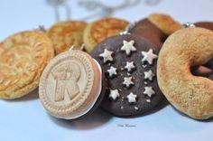 KIT 4 Collana Fimo Biscotto -Biscotto Colazione in Italia- Mulino Bianco